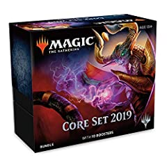 """Your Bundle contains 10 booster packs of Core Set 2019 (M19, sometimes """"Core 19""""), the follow-up to the hit expansion, Dominaria. Each pack contains 15 Magic cards. Pick your favorites, put them in your deck and battle!"""
