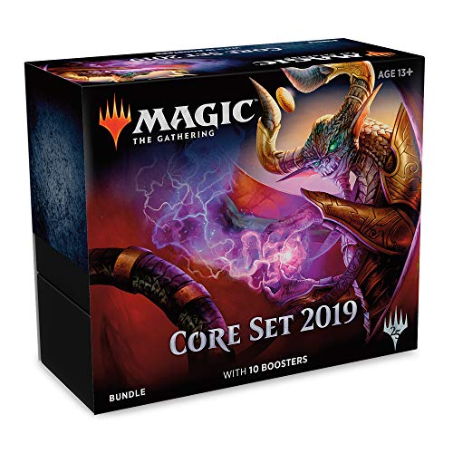 Magic: The Gathering Core Set 2019 Bundle | 10 Booster Packs | Accessories (Best Red Commander Cards)