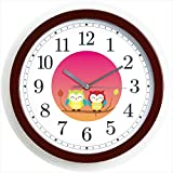 Kakusee Happy couple Owl wall clock from Japan