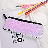 Bags Kids Coin Purse Mermaid Sequins Women Make-up Pouch Student Pen Case Portable   Size - Pink