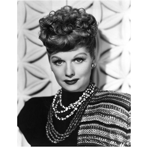 Lucille Ball 8 x 10 photo I Love Lucy The Lucy Show Here's Lucy B&W Pic 7 Strands of Necklaces kn