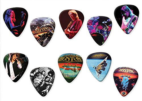 Boston (Limited to 100) Set of 10 Electric Acoustic Guitar Plectrums (Best Of Boston Ltd)
