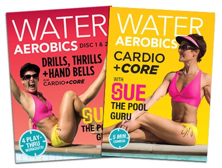 Cardio +Core Value-Pak Three DVD Disc Set: Water Aerobics w Sue, The Pool Guru