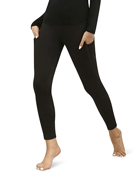 high quality guarantee thoughts on shop for best Bamans Women's Winter Warm Fleece Lined Leggings Workout Running Cycling  Thermal Tights Thick Yoga Pants with Side Pockets