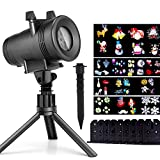 Christmas LED Projector Lights with 12 Switchable Patterns, Ominilight Waterproof Magicfly Rotating Spotlight for Holiday, Thanksgiving, Birthday, Party, Indoor and Outdoor Decoration Easter Day