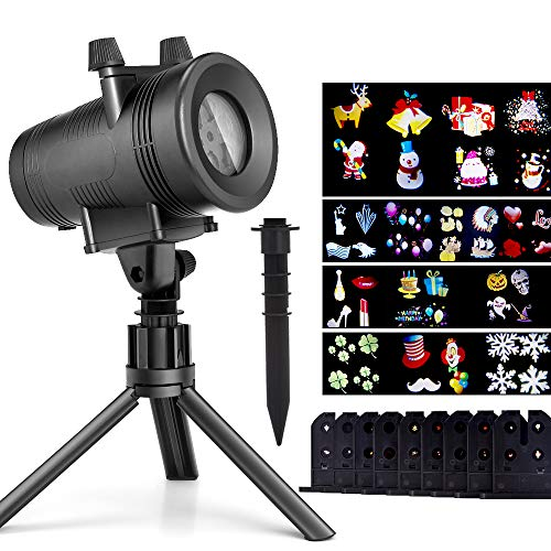 Christmas LED Projector Lights with 12 Switchable Patterns, Ominilight Waterproof Magicfly Rotating Spotlight for Holiday, Thanksgiving, Birthday, Party, Indoor and Outdoor Decoration Easter Day -