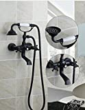 wall faucets for tubs - GOWE Bathtub Shower Faucet Set Torneira Unique Design Whith 7