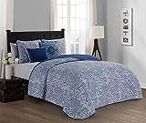 quilt clearance - Avondale Manor Fresco 5-piece Quilt Set, Blue, King