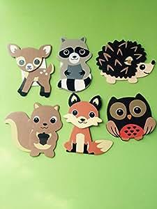 Amazon.com : Woodland Critters Animal Cutouts, Woodland