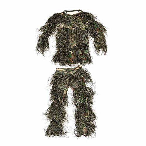 ABCAMO Kids Woodland Camouflage 4 Pieces Ghillie