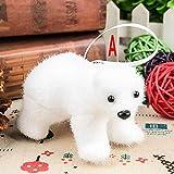 Gbell 1 Pcs Christmas Tree White Bear Pendant Ornaments Xmas Cute Polar Bear Deer Kids Boys Girls Gift Home Decorations