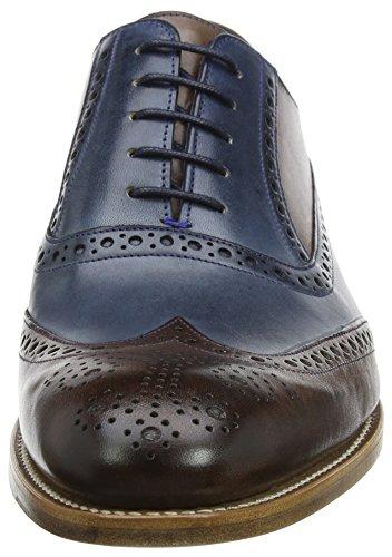 BARKER Valiant, Scarpe Stringate Oxford Uomo Blu (Ebony Calf/ Navy Grain Fw22)