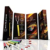 Swivelsticks Marshmallow Roasting Sticks - 6 Premium Forks, FREE Storage Bag With 10 Smores Skewers, E-Book, Video & Recipes - 34 Inch Telescoping and Rotating Safe For Kids Camping Fire Pit Hot Dog