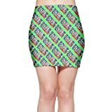 SKIRTS WWE Flower Hat Sloth Womens Slim Fit High Waist Mini Short Skirt