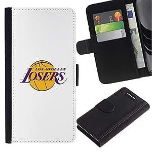 For Sony Xperia Z3 Compact Case , Angeles Losers Basketball Team Funny - la tarjeta de Crédito Slots PU Funda de cuero Monedero caso cubierta de piel