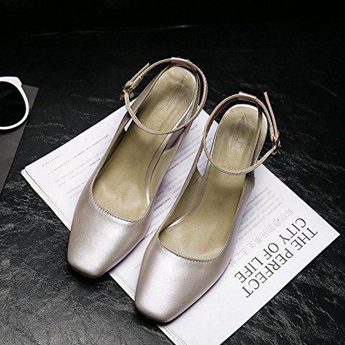 FANIMILA Moda Mujer Slingback Strappy Sandalias Verano Cerrado Tacon Ancho Alto Zapatos Rosado