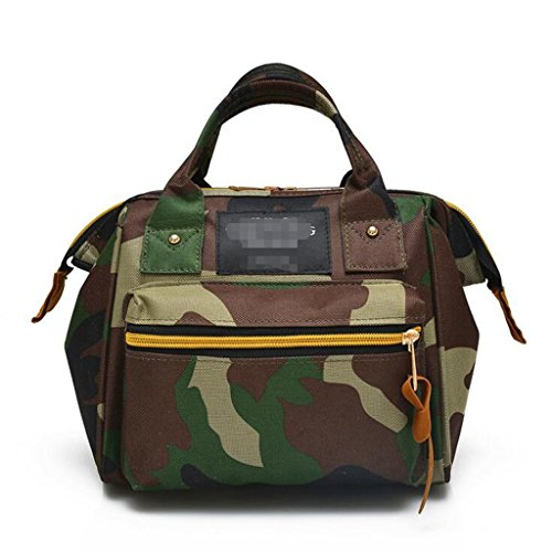 - Sucastle Casual bag fashion bag handbag shoulder bag shoulder bag nylon bag Sucastle Color:Camouflage Size:22.5x20x15cm
