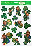 Leprechaun & Shamrock Clings Party Accessory (1 count) (14/Sh)