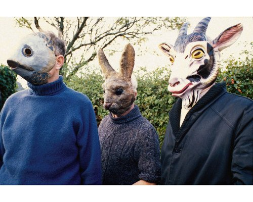 The Wicker Man villagers in creepy animal masks 11X14 Promotional Photograph