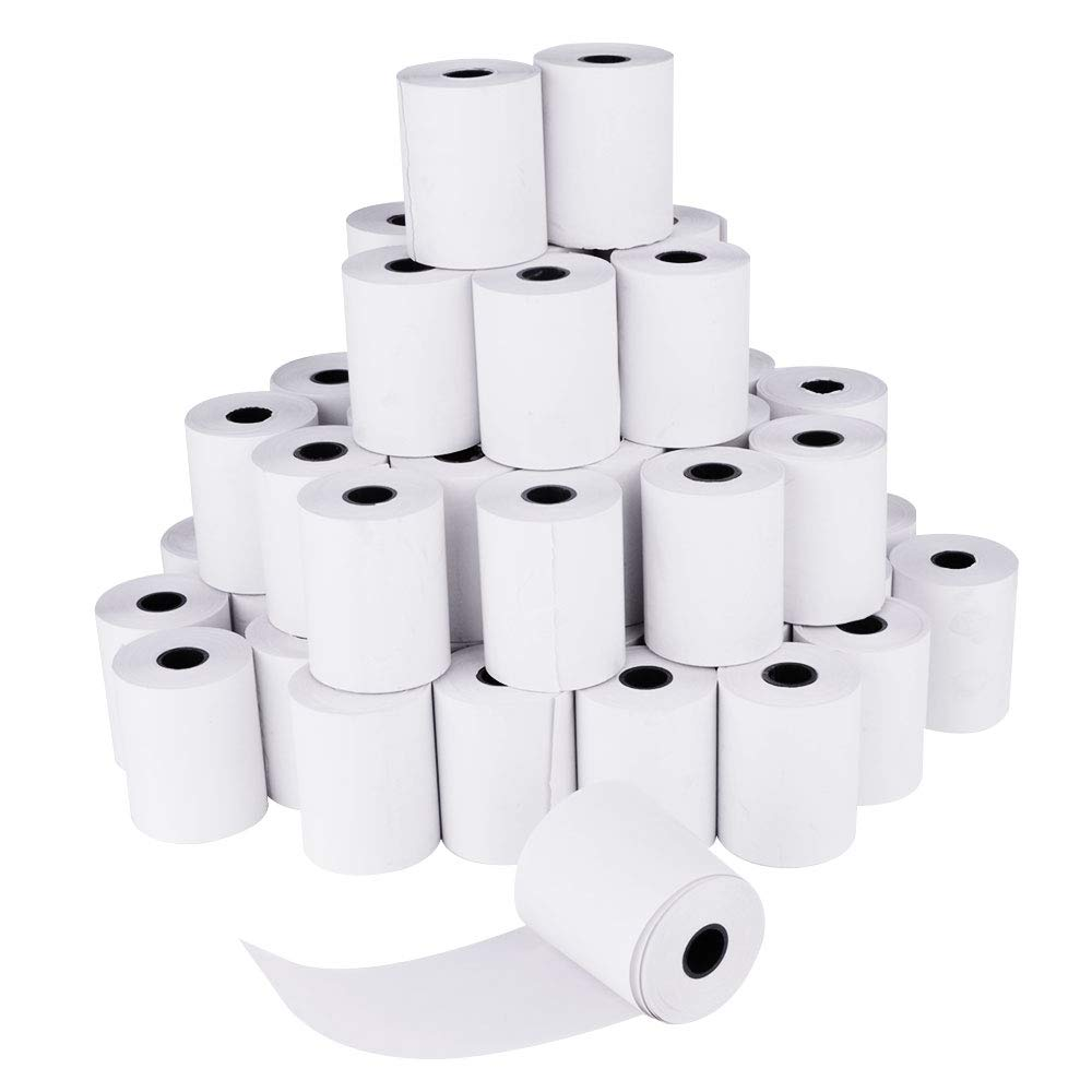 SHiZAK 48 Rolls BPA Free 2 1/4' x 50' Thermal Paper Cash Register POS Receipt Paper (57mm in Width,15.3m in Length)