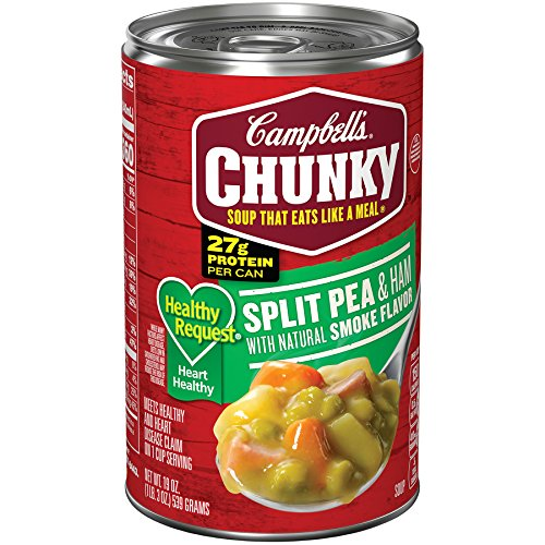 Campbell's Chunky Healthy Request Split Pea & Ham with Natural Smoke Flavor Soup, 19 ()