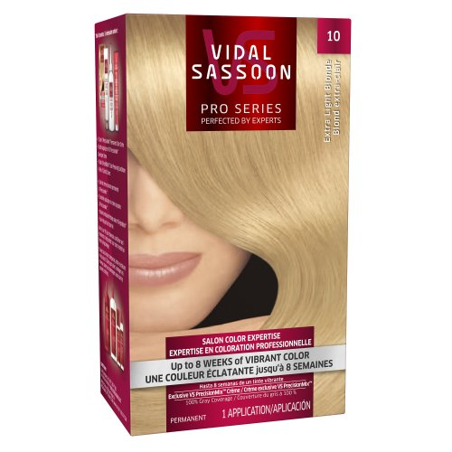 Vidal Sassoon Pro Series Hair Color, 10 Extra Light Blonde, 1 Kit