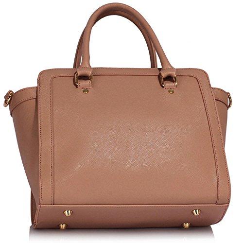 Xardi London monocromatico multi donne borse a tracolla da donna in pelle sintetica design Grab Bags Nude Style 1