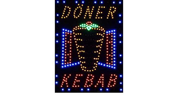 C&K - Cartel con luz LED XXL DÖNER Kebab: Amazon.es ...