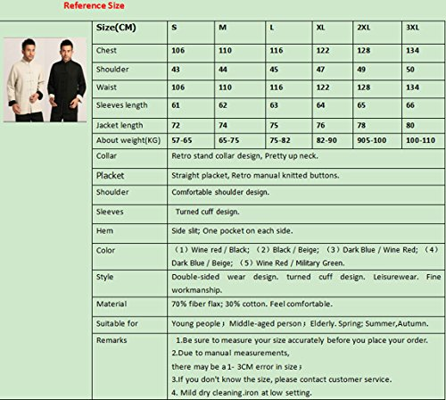 Cotton-flax Tang Suits Double-sided Wear Retro Jackets mens shirts Business Jackets Full Dress by Double-sided Wear Tang Suit (Image #8)