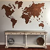"""Wood World Map Large Red Blank World Map Travel map Wall Rustic Home Decor Office Decor Wall Decor Dorm Living Room Interior Design Fathers Day Gift L size - 150x90 cm (59x35"""")"""
