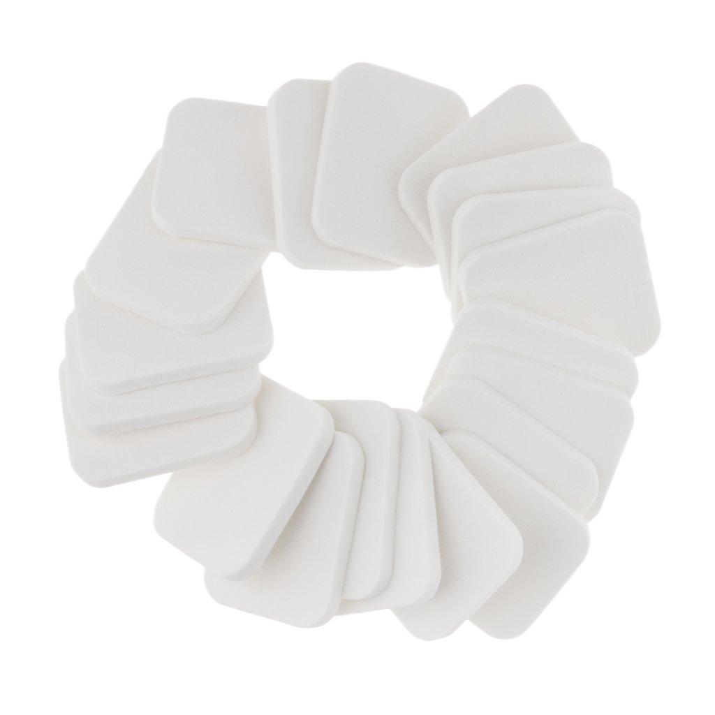 Homyl 20pcs/Pack Makeup Foundation Blender Face Sponge Powder Puff Square/Round - White, as described