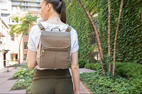 51mjdE17hdL - Travelon Anti-theft Signature Slim Backpack, Black