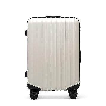 Hard Shell  Lightweight Trolley Suitcase 4 Wheel Luggage Hand Case Beige