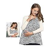 Benchmart Multifunction Nursing Cover Mums Breastfeeding Scarf,Feeding Breathable Cotton Privacy Adjustable Feeding Cover (120X62CM)