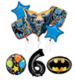The Ultimate Batman 6th Birthday Party Supplies and Balloon Decorations