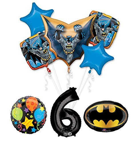 The Ultimate Batman 6th Birthday Party Supplies and Balloon Decorations]()