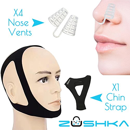 Anti Snoring KIT Chin Strap and 4 units of nose vents perfect combination to stop snore