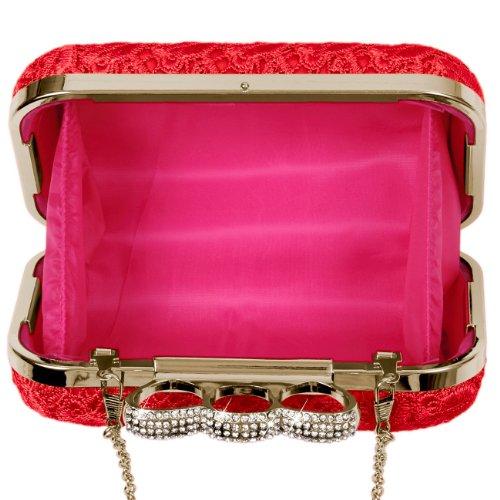 Pochette pour femme Rouge CASPAR Accessoires Taschen amp; 64wfZZqB
