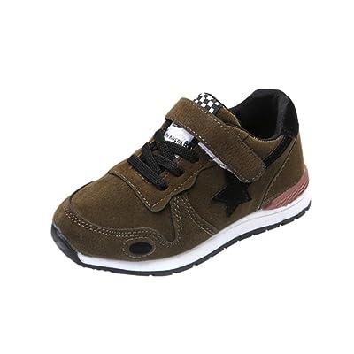 CMrtew Toddler Kids Solid Sport Running Shoes Boys Girls Star Mesh Sneakers