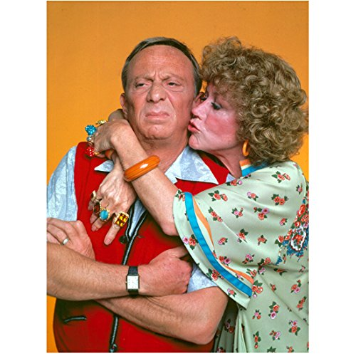 Three's Company Audra Lindley Kissing Norman Fell The Roper's 8 x 10 Inch Photo