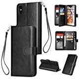 Ranyi iPhone Xs Case, iPhone X Case, Premium Leather Flip Wallet...
