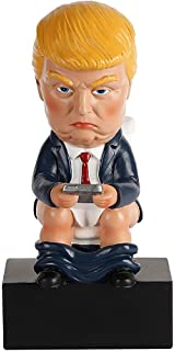 Toilet Donald Trump Doll Funny Realistic White Elephant Gag Gift FREE ENGRAVING INCLUDED