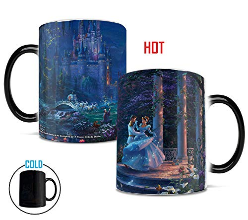 Disney Morphing Mugs Thomas Kinkade Cinderella Dancing Heat Reveal Ceramic Coffee Mug - 11 Ounces ()