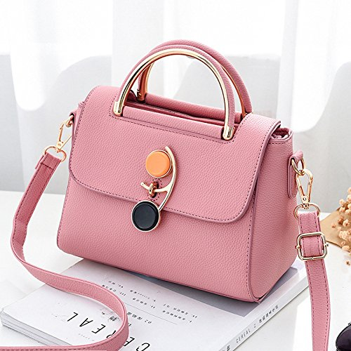 Lady Fashion Handbags Bag Bag Bag Wild Bag Gray Pink Shoulder Shoulder Bag Style Laptop Tote Olici Small 4PTAqxx