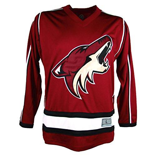 NHL Arizona Coyotes Men's Embroidered Practice Away Hockey Jersey, Maroon