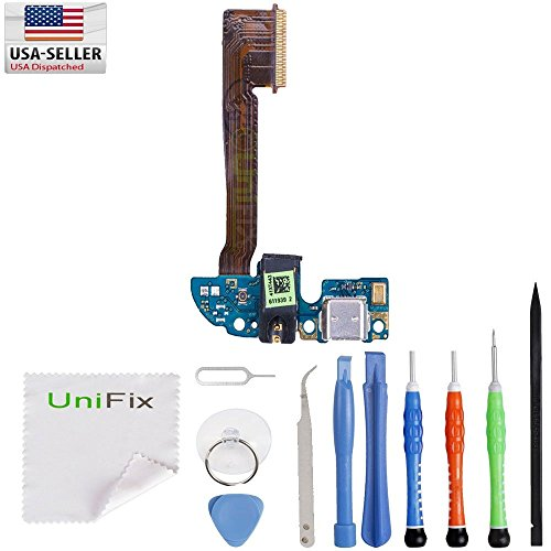 Flex Cable Dock Connector USB Port Repair Part for HTC One M8 (Single Pin) + Toolkit ()