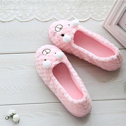 Euone Donne Simpatico Cartone Animato Comodo Caldo Donne Incinte Scarpe Scarpe Da Ginnastica Casa Scarpe Rosa