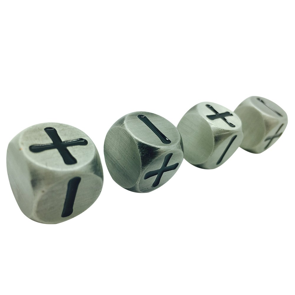 4 Officially Licensed Dice Official Fate /& Fudge Systems Aged Mithiral Dice By Norse Foundry