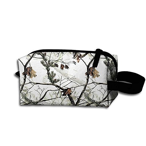Travel Bag White Realtree Camo Toiletry Bag Clash Durable Zipper Wallet Makeup Handbag With Wrist Band]()