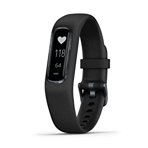 "Garmin 010-01995-10 vívosmart 4, Activity and Fitness Tracker w/Pulse Ox and Heart Rate Monitor, Midnight w/Black Band, 0.75"", Midnight w/Black Band"